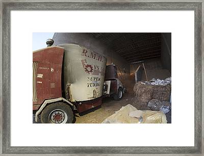 Self-driving Mixing Truck Framed Print by Photostock-israel