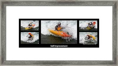 Self Improvement With Caption Framed Print by Bob Christopher
