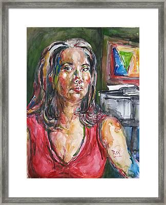 Self Portrait 8 Framed Print by Becky Kim