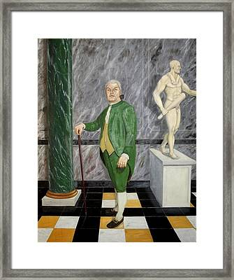 Self Portrait As A French Republican Framed Print by Howard Bosler