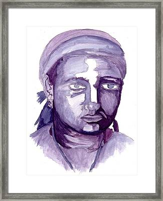 Self Portrait At 19 Framed Print by Cecelia Taylor-Hunt