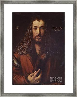 Self Portrait  Durer Framed Print by Pg Reproductions