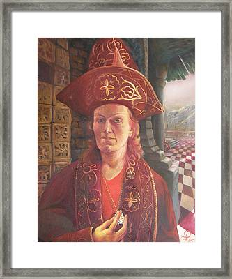 Self-portrait In A Kazakh Costume Framed Print