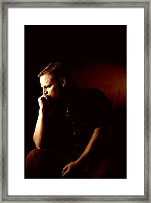 Self Portrait In Copper Framed Print by Monte Arnold