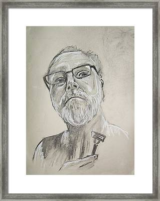 Self Portrait Framed Print by Peter Edward Green