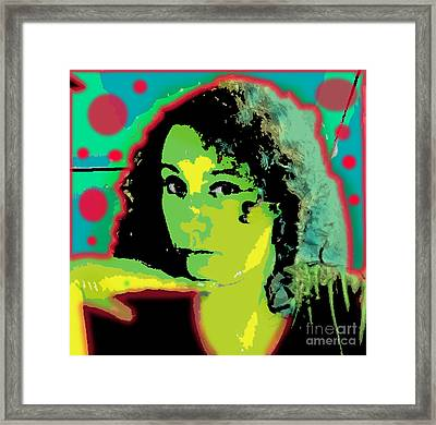 Self Portrait Pop Art Framed Print by Christine Perry