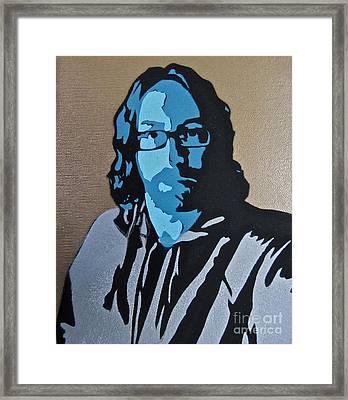 Self Portrait Framed Print by Tom Evans