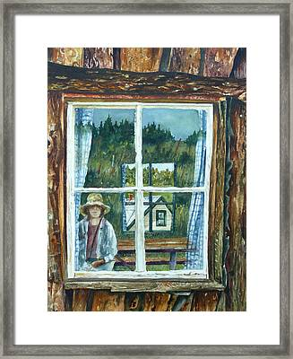 Self Portrait Walker Ranch Framed Print by Anne Gifford