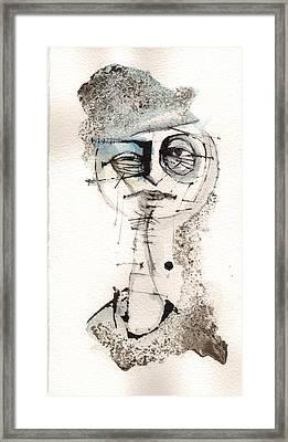 Self Portrait With Fedora Framed Print
