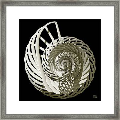 Self-referentially Braided Shell Framed Print by Manny Lorenzo