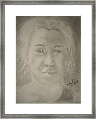 Selfportret Framed Print