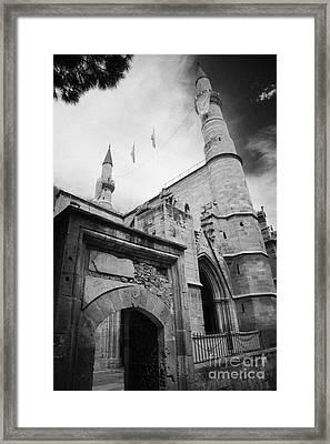 Selimiye Mosque Formerly Saint Sophia Cathedral Nicosia Lefkosia Trnc Turkish Cyprus Framed Print