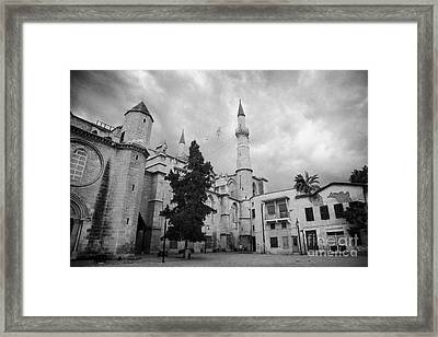 Selimiye Mosque Formerly Saint Sophia Cathedral Nicosia Lefkosia Trnc Turkish Cyprus Nicosia Framed Print by Joe Fox