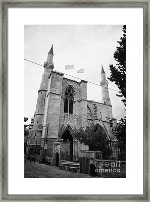 Selimiye Mosque Formerly Saint Sophia Cathedral Nicosia Lefkosia Trnc Turkish Nicosia Cyprus Framed Print by Joe Fox