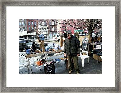 Selling My Wares Framed Print by Terry Wallace