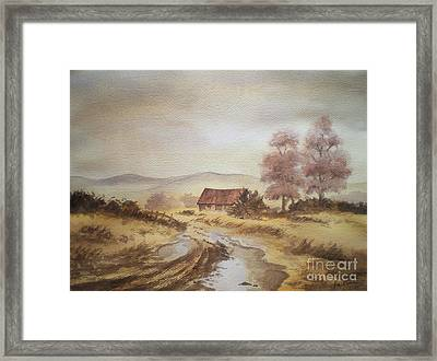 Framed Print featuring the painting Selo Poslije Kise by Eleonora Perlic