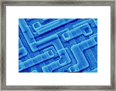 Sem Of Integrated Circuit Fron Computer's Framed Print by Pasieka