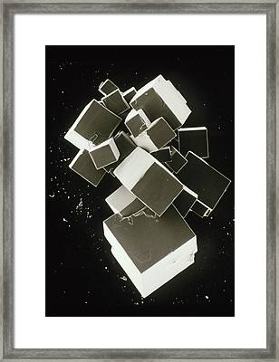 Sem Of Pure Sodium Chloride (recrystallised) Framed Print by Dr Jeremy Burgess