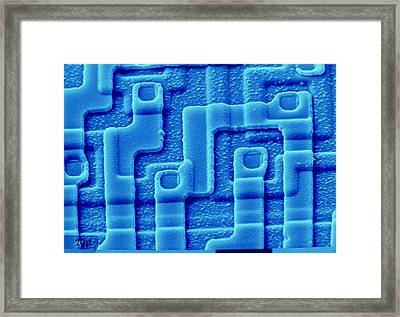 Sem Of The Surface Of An Integrated Chip Framed Print by Pasieka