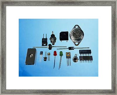Semiconductor Components Framed Print by Andrew Lambert Photography