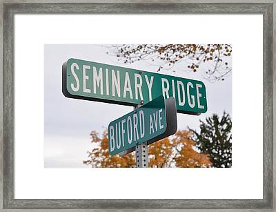 Seminary Ridge And Buford Ave - Gettysburg Framed Print by Bill Cannon