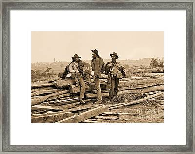 Seminary Ridge Framed Print by Pg Reproductions