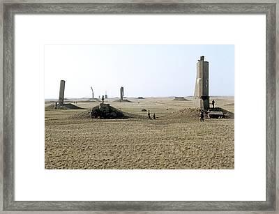 Semipalatinsk Nuclear Test Site Framed Print by Ria Novosti