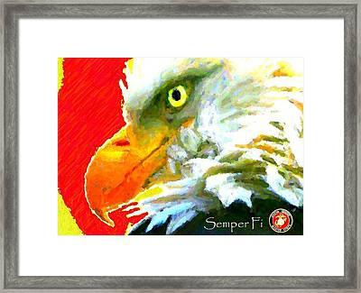 Semper Fi Framed Print by Carrie OBrien Sibley