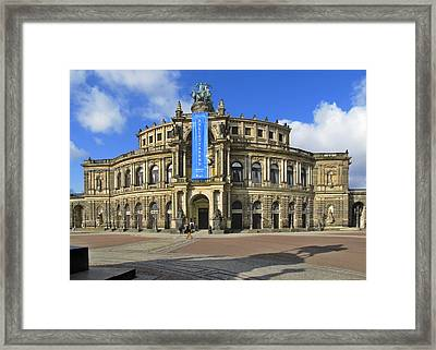 Semper Opera House - Semperoper Dresden Framed Print by Christine Till