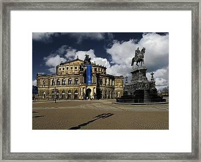 Semper Opera House Dresden - A Beautiful Sight Framed Print by Christine Till
