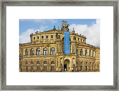 Semper Opera House Dresden Framed Print