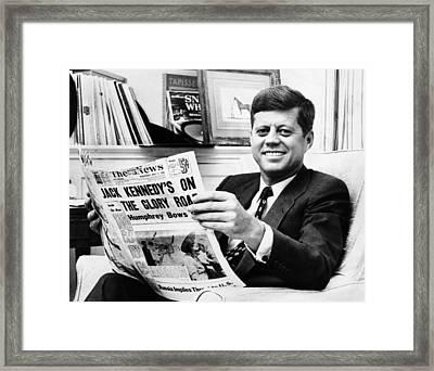 Sen. John Kennedy Becomes Framed Print by Everett