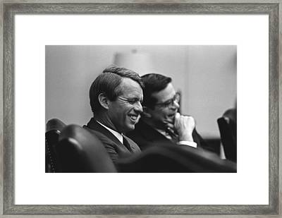 Sen. Robert Kennedy And Ted Sorenson Framed Print by Everett