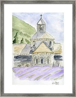 Senanque Abbey Provence Framed Print by Eva Ason