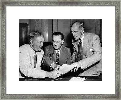 Senate Armed Services Committee Framed Print by Everett