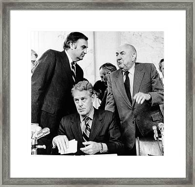 Senate Watergate Committee. Members Framed Print by Everett