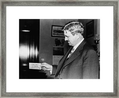 Senator Clarence C. Dill Of Washington Framed Print by Everett