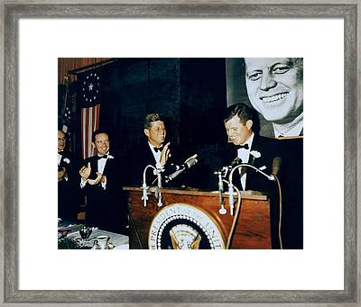Senator Edward Kennedy Introduces Framed Print by Everett