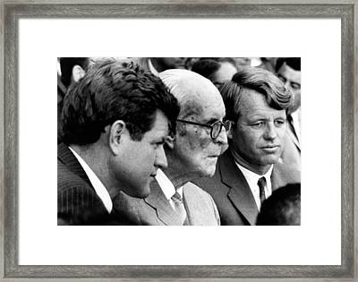 Senator Edward M. Kennedy, Joseph P Framed Print by Everett