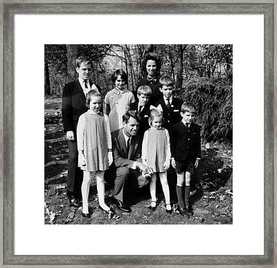 Senator-elect Robert Kennedy And Wife Framed Print by Everett