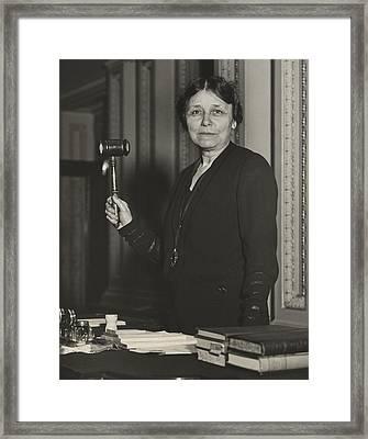 Senator Hattie W. Caraway, Democrat Framed Print by Everett