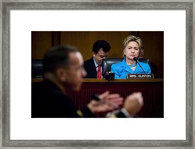 Senator Hillary Clinton A Member Framed Print by Everett