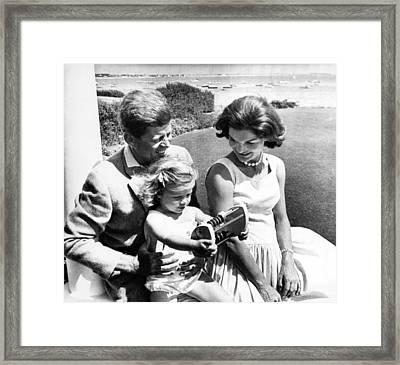 Senator John F. Kennedy, Caroline Framed Print by Everett