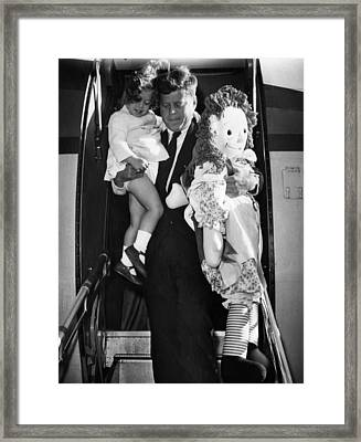 Senator John F. Kennedy Right Framed Print by Everett