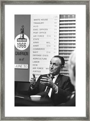 Senator Mike Mansfield, Senate Majority Framed Print by Everett