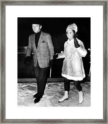 Senator Robert F. Kennedy And Ethel Framed Print by Everett