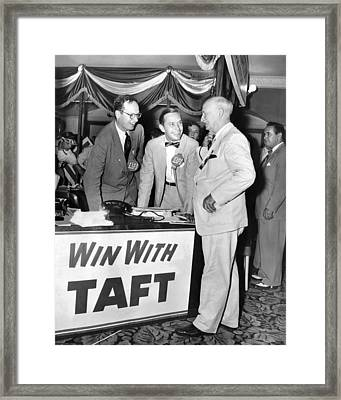 Senator Robert Tafts Two Sons Promote Framed Print by Everett