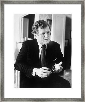 Senator Ted Kennedy, Ca. 1980 Framed Print