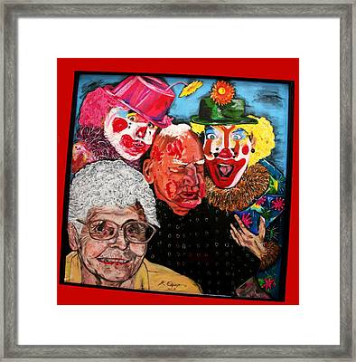 Send In The Clowns Framed Print by Karen Elzinga