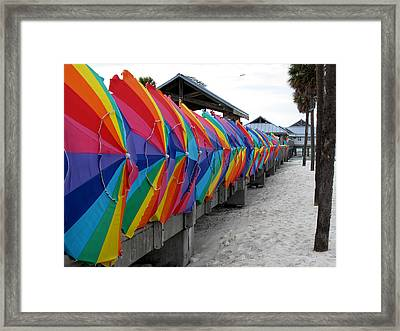 Send Storm Framed Print by Monika A Leon